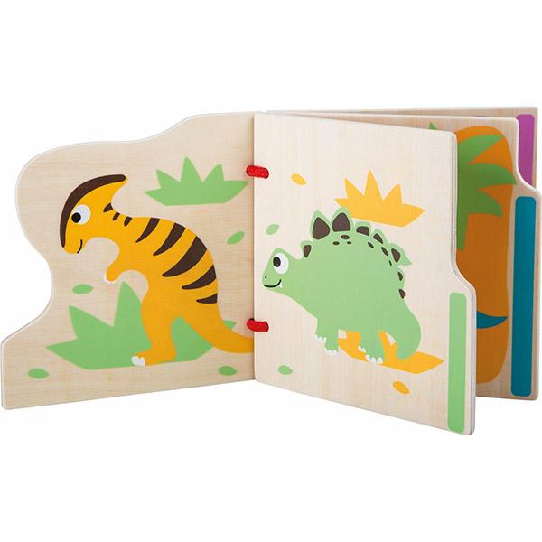 Libretto in legno per bambini sui dinosauri