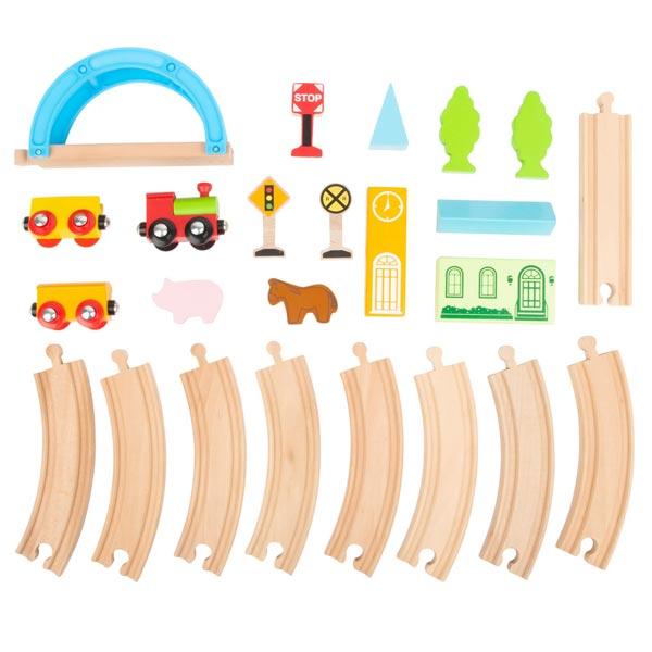 ferrovia in legno