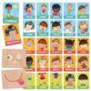 flashcards emozioni e azioni montessori