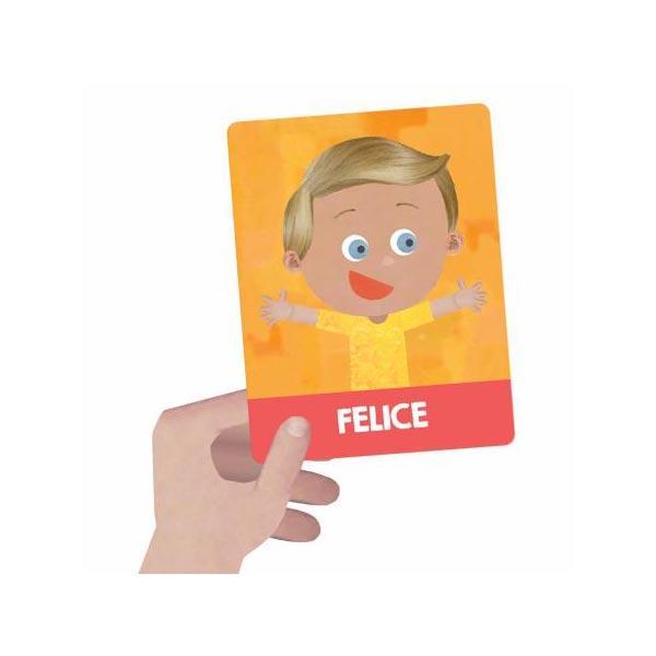flashcards montessori emozioni e azioni