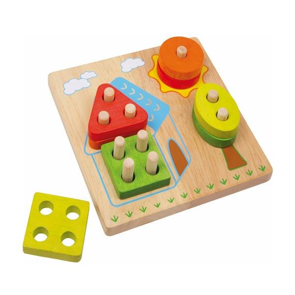 gioco incastro legno casa