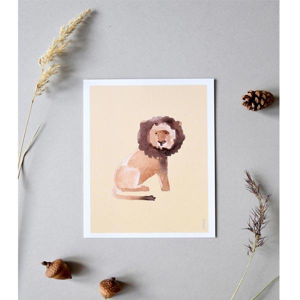 stampa cameretta leone