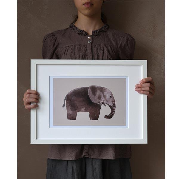 stampa elefante con cornice