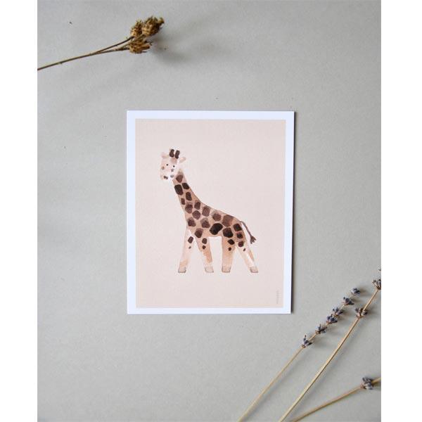 stampa nursery giraffa