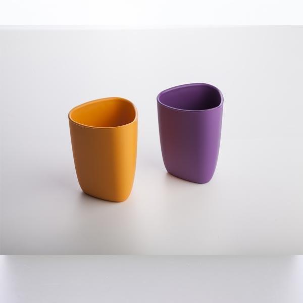 bicchieri arancio viola
